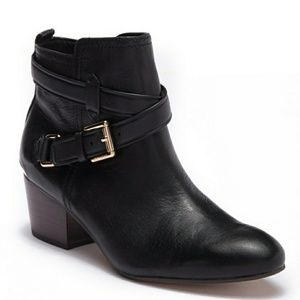 Coach Black Leather Pauline Ankle Boot
